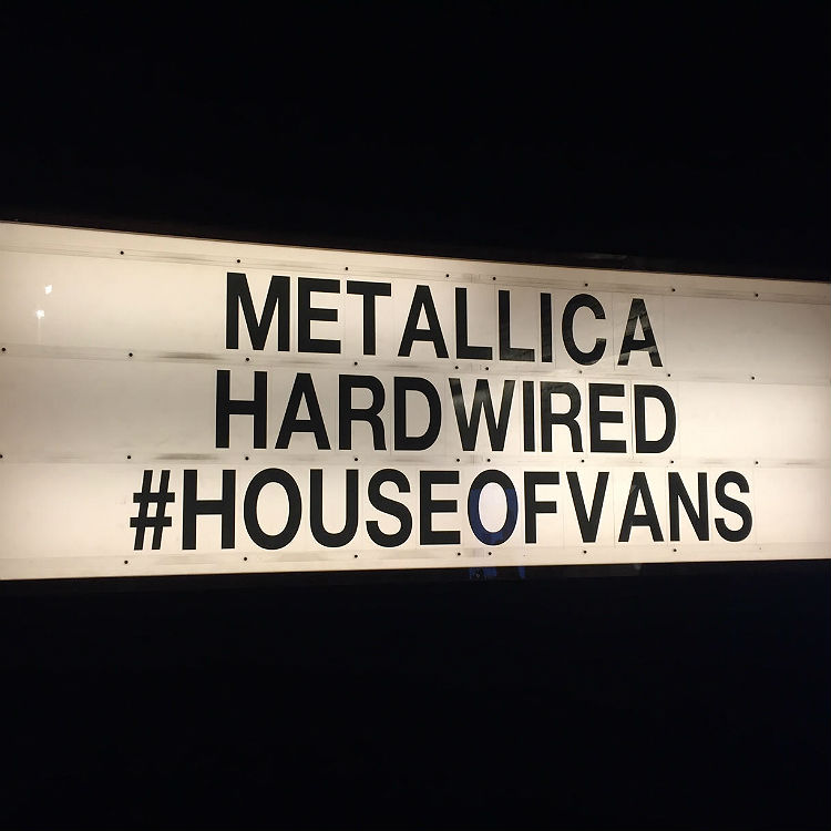 Live Review: Metallica live at The House Of Vans, London, 18/11/16