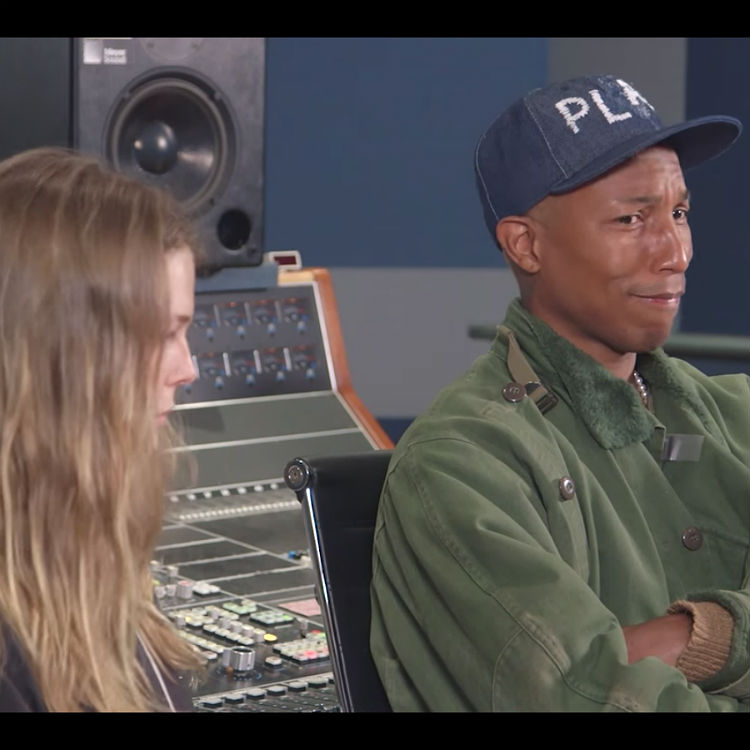 Watch Pharrell's brilliant reaction to hearing this student's music