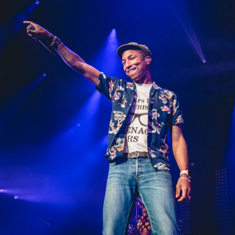 15 photos of Pharrell Williams looking happy at Leeds Arena