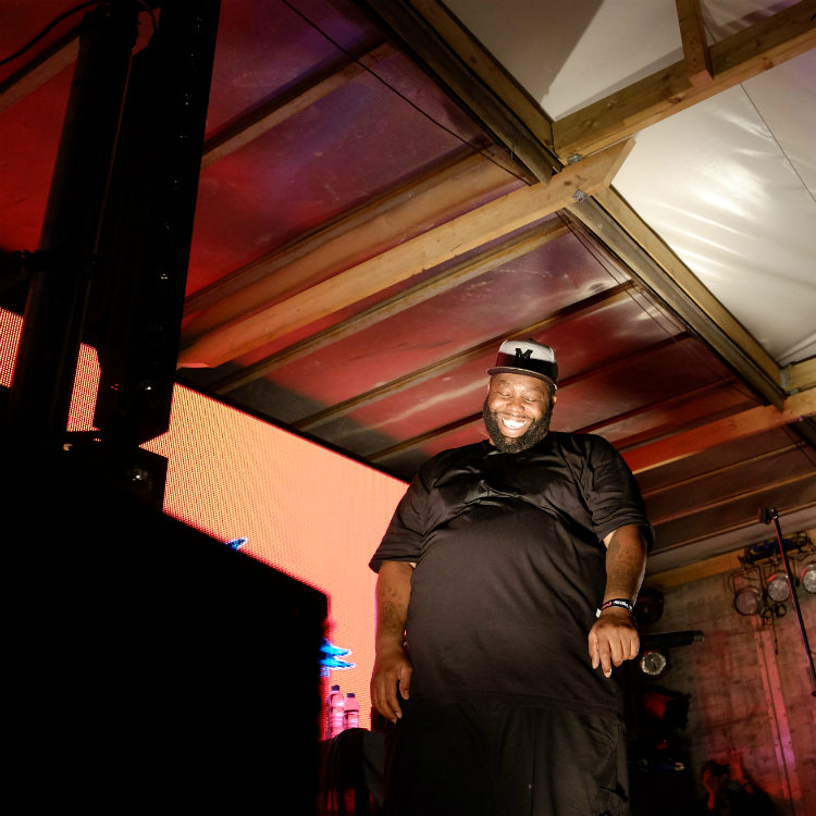 Photos of Run The Jewels destroying at Banksy's Dismaland
