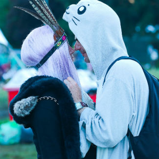 Standon Calling: costumes, mud and intimate moments