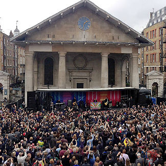 Photos: Paul McCartney plays lunchtime concert in Covent Garden