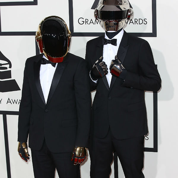 Photo: This is what Daft Punk look like without their helmets
