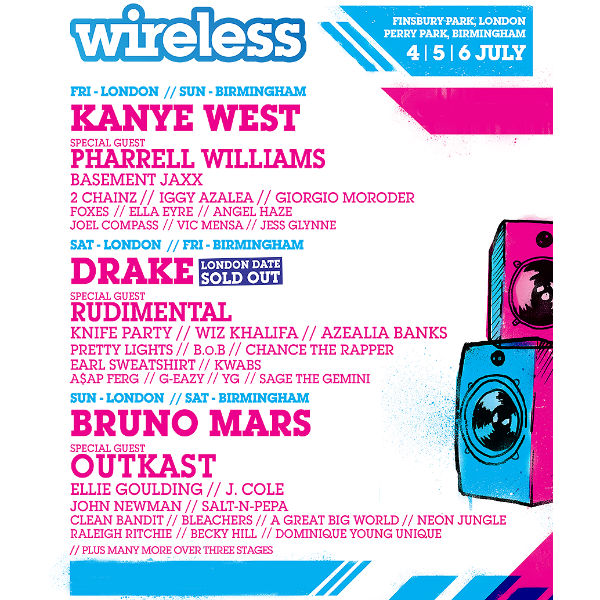 Giorgio Moroder, 2 Chainz, J Cole and more added to Wireless lineup