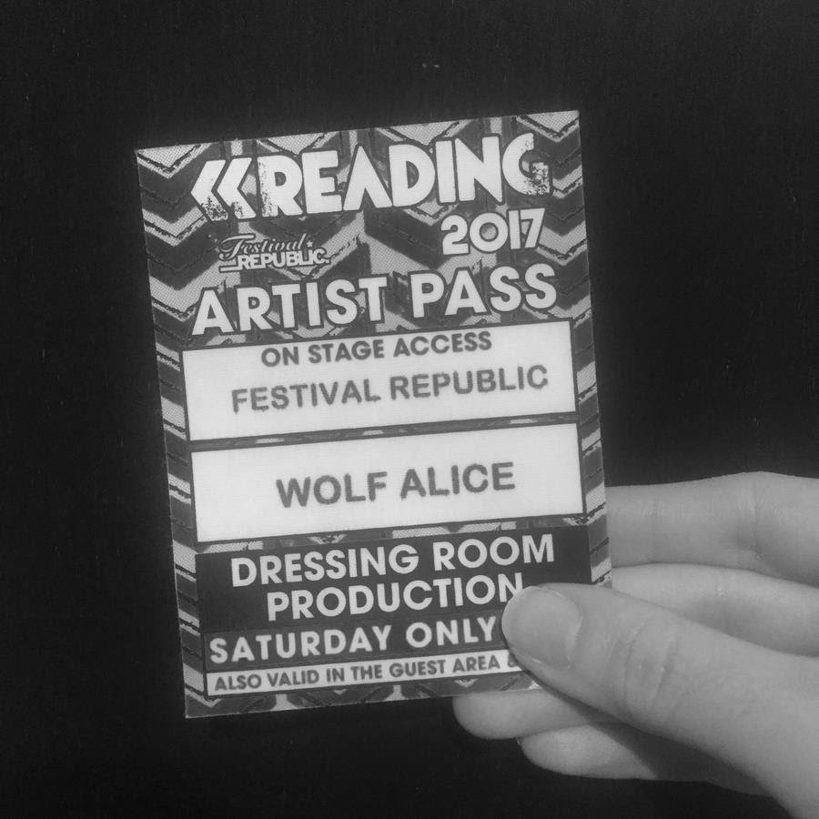 Wolf Alice are playing live at midday today in Reading Festival