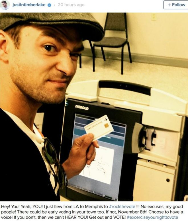 Justin Timberlake in trouble with the law after illegal voting pic