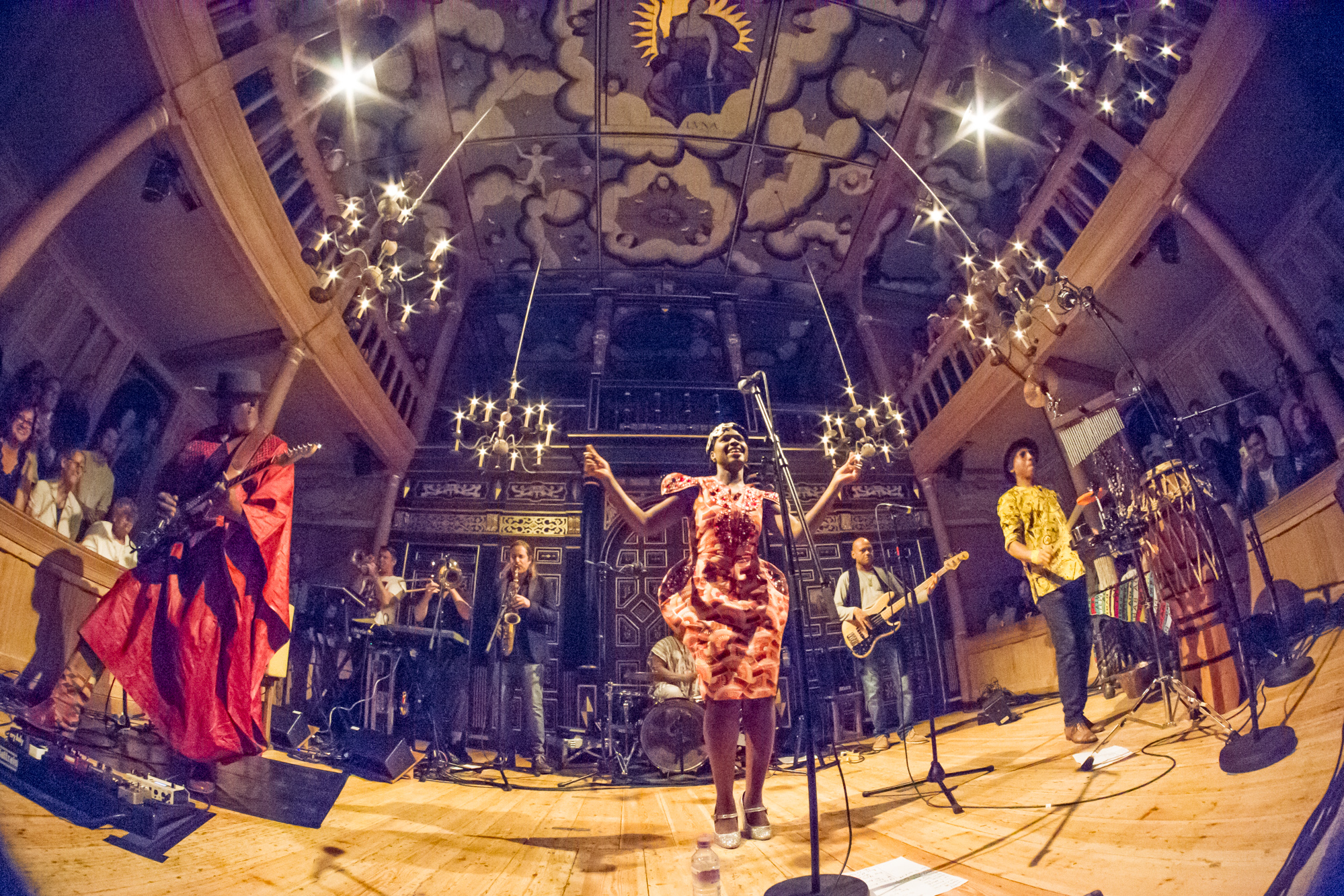 Ibibio Sound Machine photos at The Globe