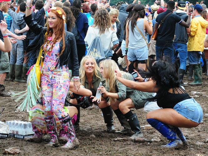 Is this the worst woman at a festival, ever? Swamp Donkey