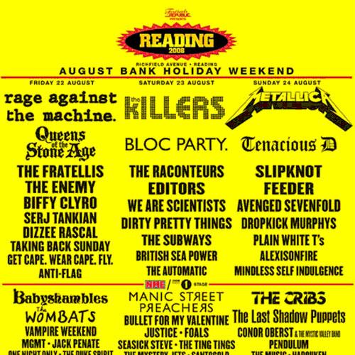 Image result for reading 2008 line up